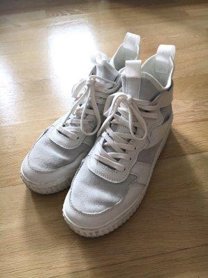 Gr.38 Leder Sneaker weiss H&m