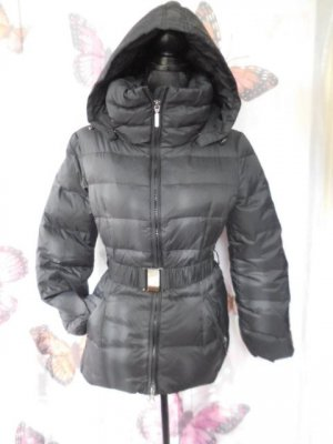 Benetton Down Jacket black-silver-colored