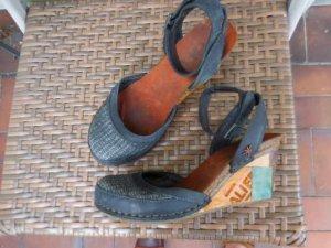 Art Sandalo a zeppa multicolore Pelle