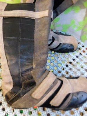 Gr. 39 D I E S E L schwarz beige braun Wildleder Lederstiefel guter bis sehr guter Zustand minmale Tragespuren, Innensohle 25,5cm