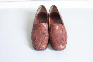 gr.39 Leder Schuhe geflochten braun Loafer slipper cos