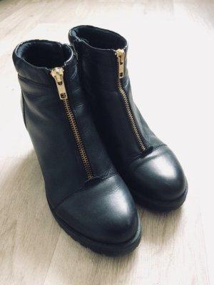 Gr.39 Vagabond leder chelsea boots schwarz Reißverschluss