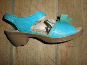 vitaform Comfort Sandals light blue-green leather