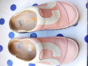 Art Sabots white-pink leather