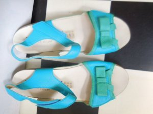 Comfort Sandals light blue leather