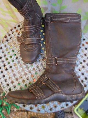 Timberland Jackboots dark brown-brown leather
