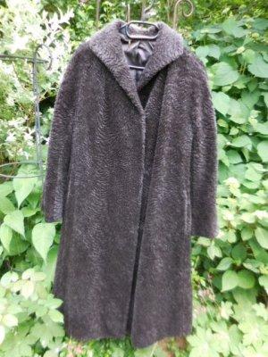 Gr. 44 PETER HAHN dunkelgrauer Mantel aus LAMAHAAR, zeitloser Schnitt sehr guter Zustand