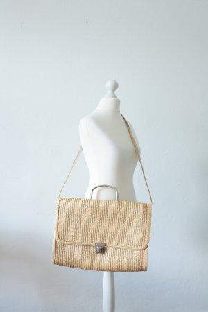 Gr. Handmade Vintage Tasche geflochten 70er