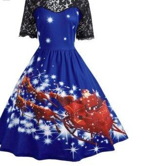 Vestido de baile azul-carmín
