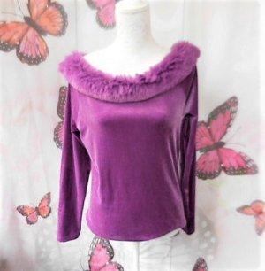 Carmen shirt violet-lila