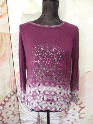 Desigual Kraagloze sweater violet