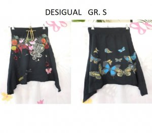 Desigual Gonna a tulipano nero Cotone