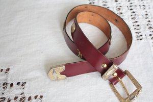 gr.S/M Leder gürtel Vintage Römer braun special cos