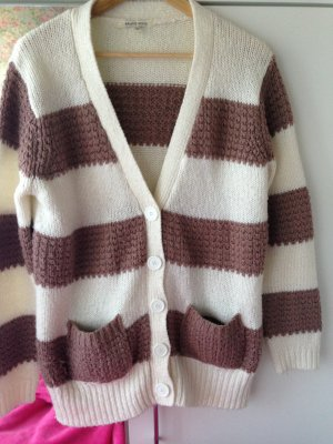 Gr S M retro Brave Soul Strick Cardigan oversize rosa wollweiss