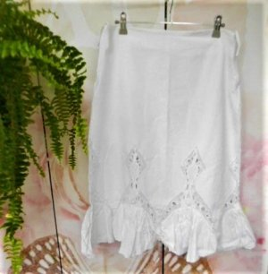Lace Skirt white cotton