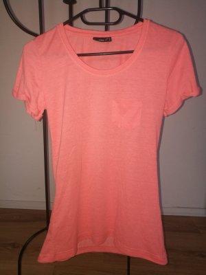 Gr.S Schönes Neon-Shirt mit Brusttäschchen
