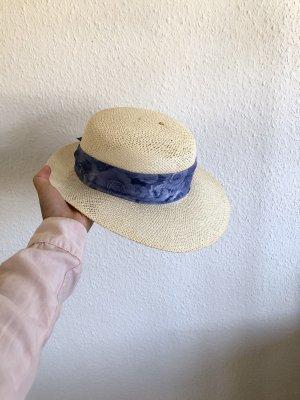 Vintage Chapeau de soleil crème-beige clair