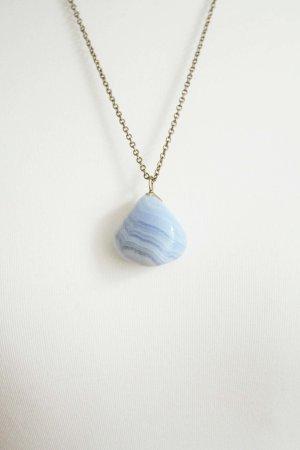 gr.S Vintage echt stein kette blau hippie #true vintage