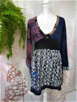 Gr. XL ca. Gr. 42 DESIGUAL Tunika Kleid sehr guter Zustand super auch zu Leggins Länge 88cm