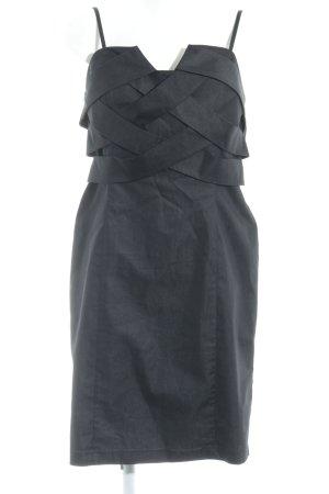 Grace Abendkleid schwarz Kuschel-Optik