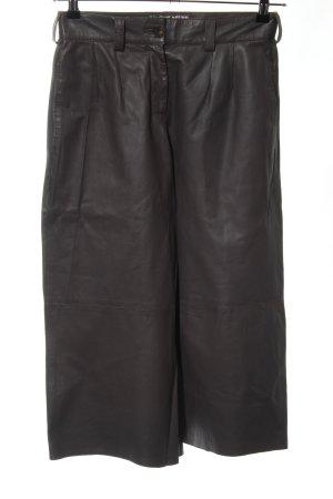 Grace Pantalone in pelle nero stile casual