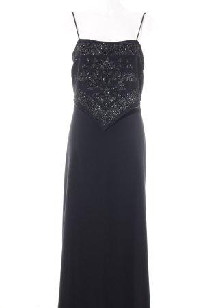 Grace Maxikleid schwarz florales Muster Elegant
