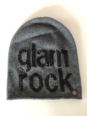 GRACE Mütze Beanie Glam Rock grau Kaschmir OS