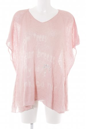 Grace Oversized Shirt rosé Motivdruck Casual-Look