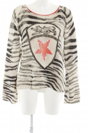 Grace Rundhalspullover grafisches Muster Casual-Look