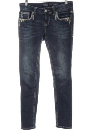 Grace Slim Jeans blau Jeans-Optik