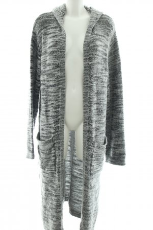 Grace Knitted Coat light grey-black flecked casual look