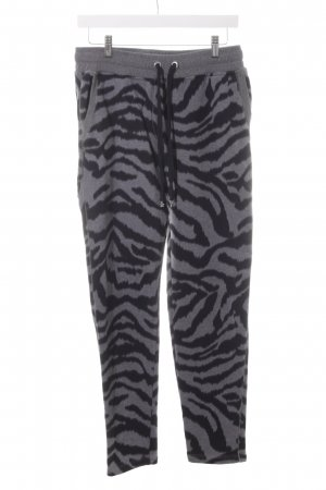Grace Sweat Pants grey-black animal pattern casual look