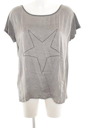 Grace T-Shirt grau-dunkelgrau Casual-Look