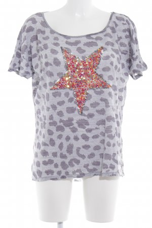 Grace T-Shirt hellgrau-grauviolett Leomuster Casual-Look