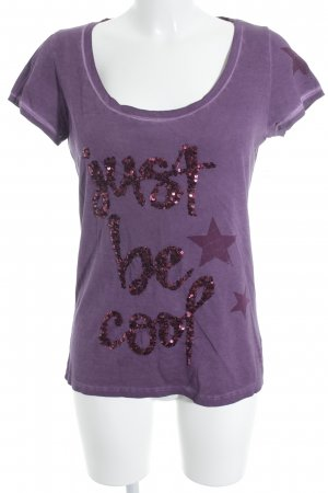 Grace T-Shirt violett-magenta Motivdruck Casual-Look