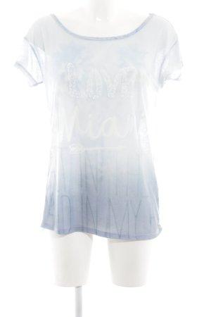 Grace Boothalsshirt blauw-wit kleurverloop casual uitstraling