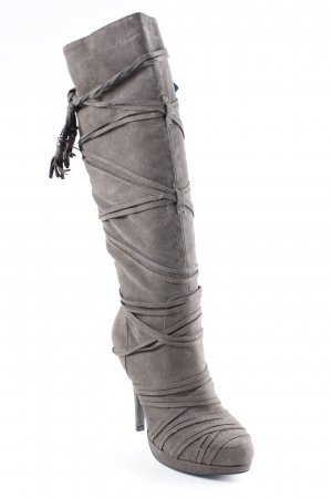 Graceland Laarzen met hak grijs-bruin country stijl