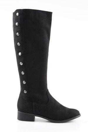 Graceland Laarzen met hak zwart-zilver elegant