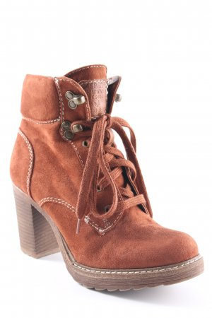 Graceland Ankle Boots cognac-braun Casual-Look