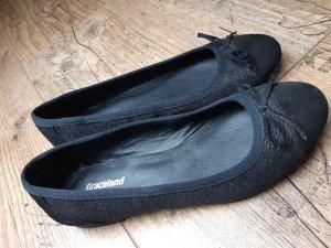 Graceland Foldable Ballet Flats black