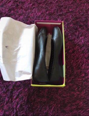 Graceland Patent Leather Ballerinas black