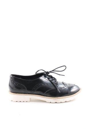 Graceland Budapest schoenen zwart-wit casual uitstraling