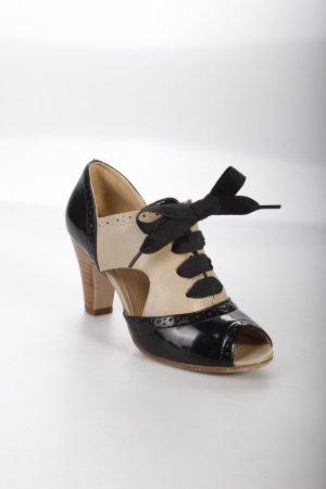 Graceland High Heel Sandaletten schwarz-creme Colourblocking Nude-Look