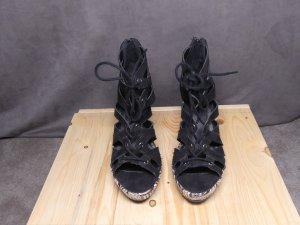 Graceland Wedge Sandals black synthetic