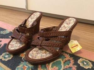 Graceland Keilabsatz Sandalen 40 in braun neu mit Etikett
