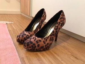 Graceland Leoparden Pumps High heels 39 braun