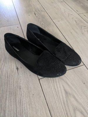 Graceland Loafer Fb. schwarz mit steinchen, Gr. 40