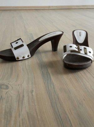 Graceland Mules white-dark brown