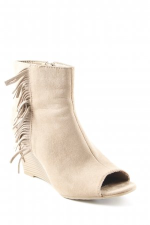 Graceland Peep Toe Booties beige casual look