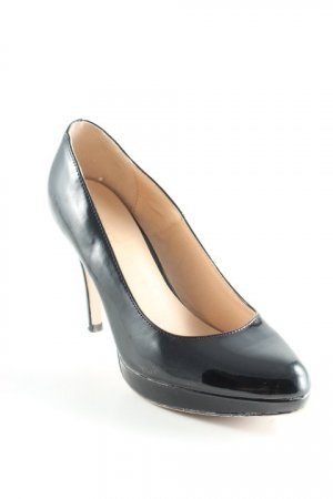 Graceland Plateau-Pumps creme-schwarz Business-Look